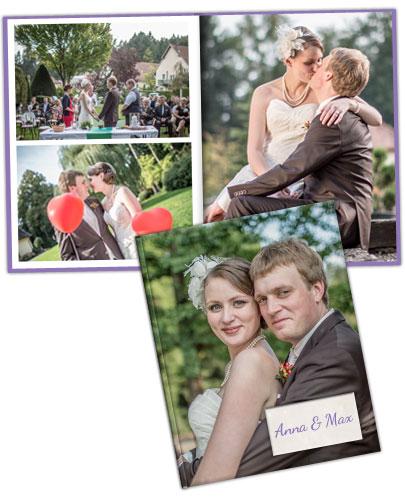 Hochzeitsfotoalbum für Freunde und Familie